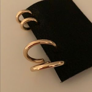 Two sets of GOLD HOOPS